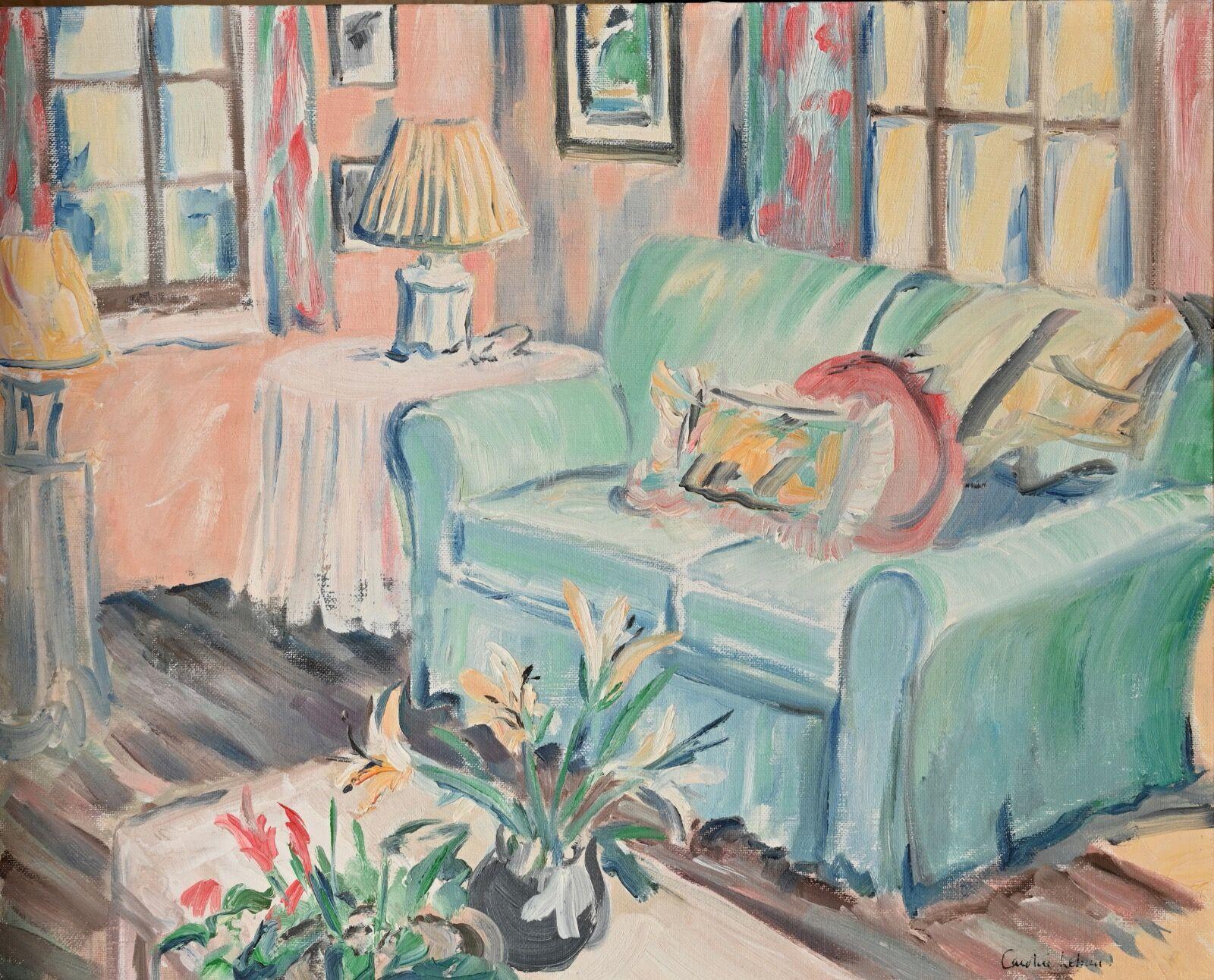 Blue Sofa Interior 40 x 50