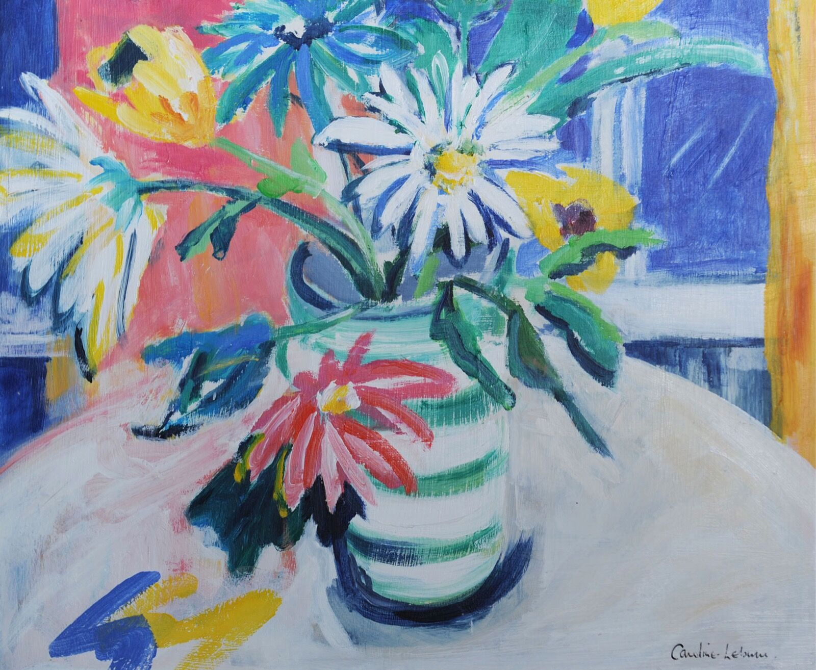 Flowers on the Kitchen Table 40 x 50