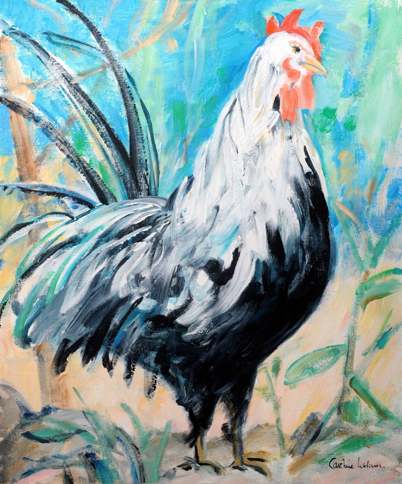 Roddy the Rooster                          60 x 50 £450
