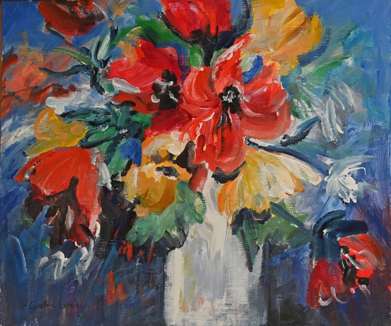 Still Life with Poppies 40 x 50 £350