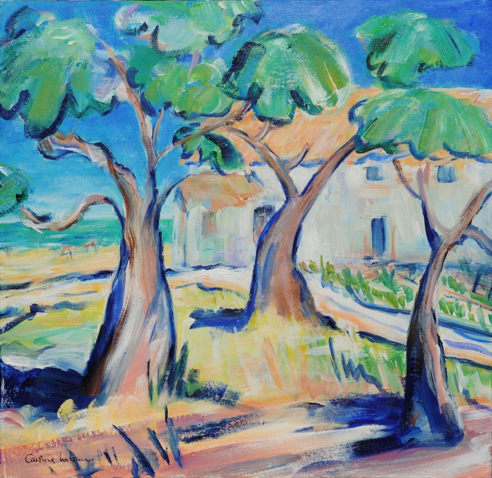 les trois arbres 50 x 50 £400