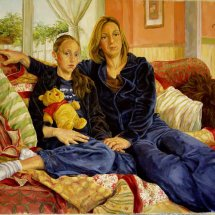 CHERYL AND      SOPHIE         Acrylic on board 80cm x 110cm