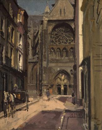 La Rue Pecquet, by  Walter Sickert,