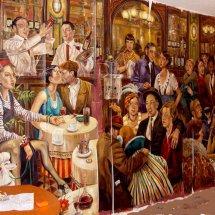 Mural for The Picasso Restaurant, Porta Banus, Marbella, Spain.
