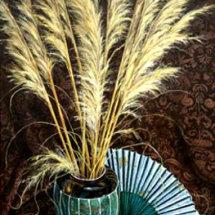 PAMPAS GRASS       Acrylic on board  55cm x 120cm