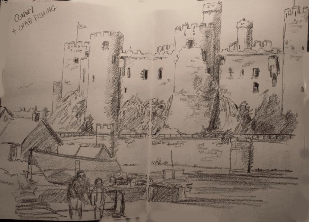 Quick Conwy Castle sketch