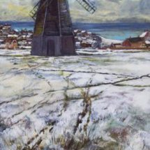 ROTTINGDEAN       MILL      Acrylic on board  30cm x 50cm