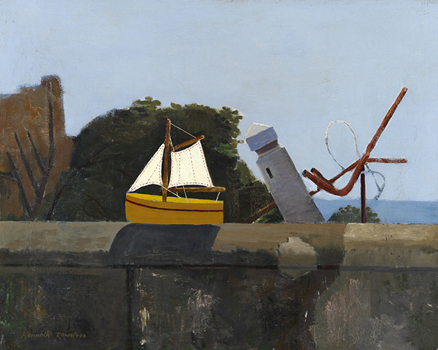 Toy Boat at Selsey by Kenneth Rowntree
