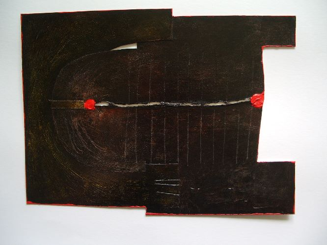 connection piece with score lines and red points