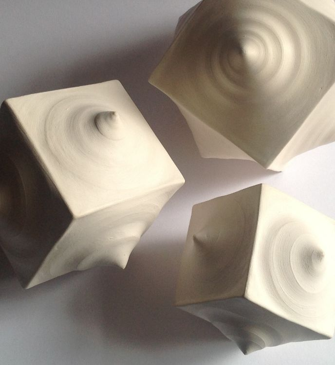 porcelain cubes (detail)