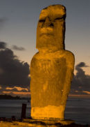 Moai at Caleta Hanga Roa, Easter Island, Chile