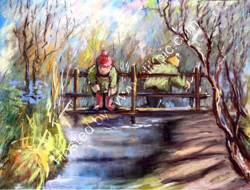 POO STICKS! pastel painting