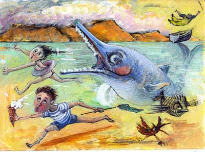 children and Ivor the Ichthyosaur