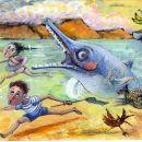 At first, the children ran away!.......