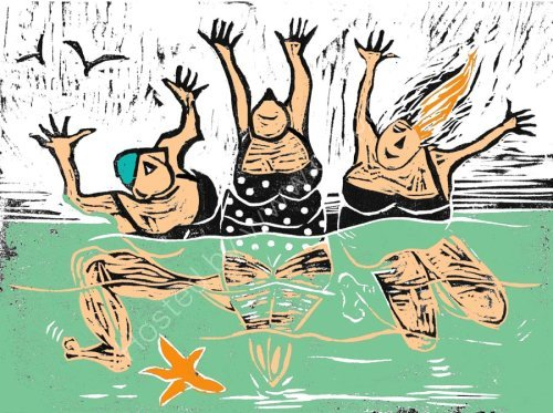 Big Bathers  CARD DESIGN