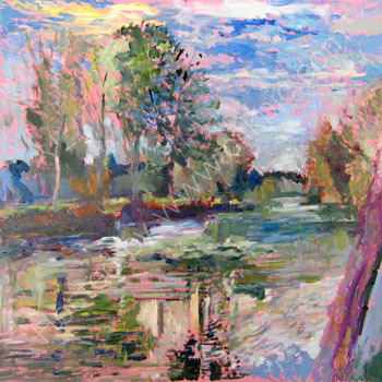 Loire valley river   SOLD