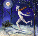 'Jack Frost' egg tempera painting