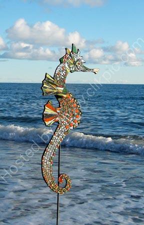 Mosaic seahorse 2. SOLD