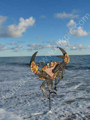 articulated crab mosaic SOLD