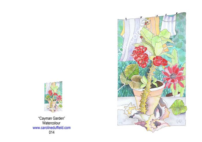 Cayman Garden A6 Card
