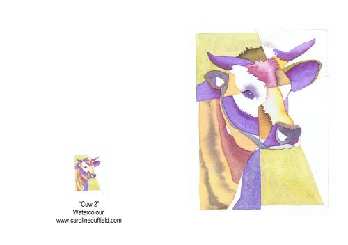 Cow 2 A6 Card
