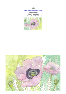 Hot Pink Poppy A6 Card