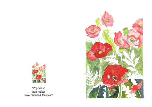 Poppies 2 A6 Card