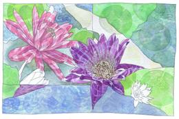 Waterlilies A6 Card