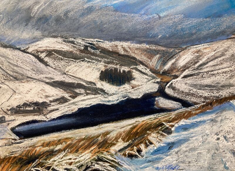 North Esk Reservoir in the Snow