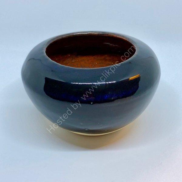 Midnight Blue/Copper Pot. Sold