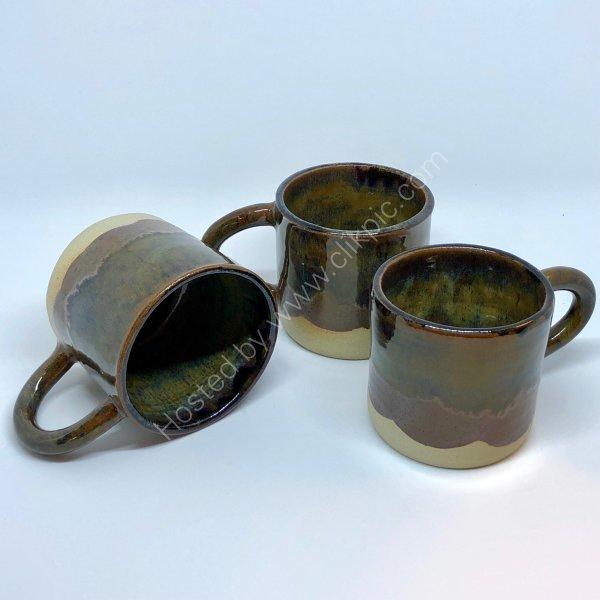 Greens/Browns coffee mugs