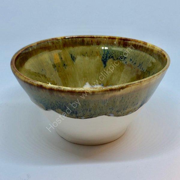 "Glazed Porcelain Bowl 7"" diameter. Sold"
