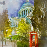 St Pauls, Night-time Watercolour