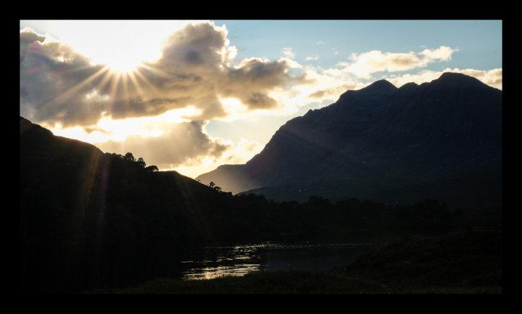 Sunbeams, Loch Clair, Beinn Eighe, Torridon
