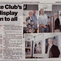 Press feature about the Palette Club Open exhibition