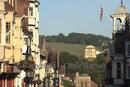 The North Downs viewed from Guildford High St.