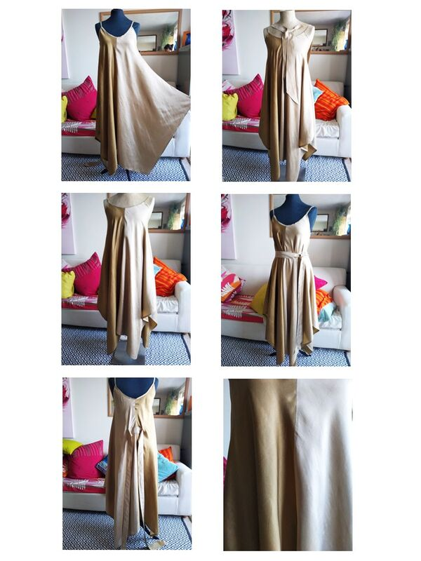 'Rica' 2. Gold, 100% silk maxi dress