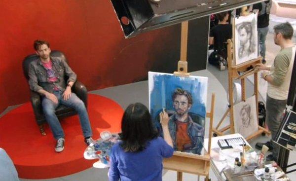 Painting David Tennant