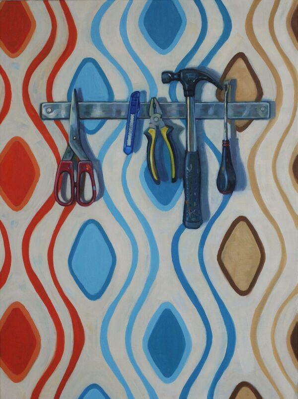 Tools with retro, Spanish wallpaper