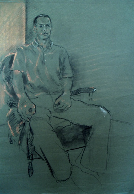 Seated Man in Rochdale