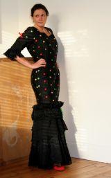 Black Silk Sevillana Dress
