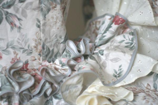 Prize-winning Sevillana dress detail