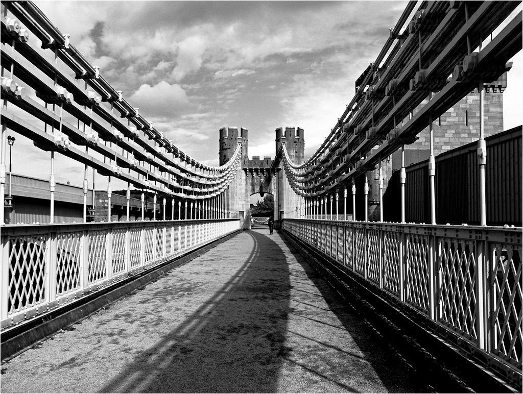 Conwy Bridge, Towards the Toll House - Joint 3rd place print - Vince Marsrglia