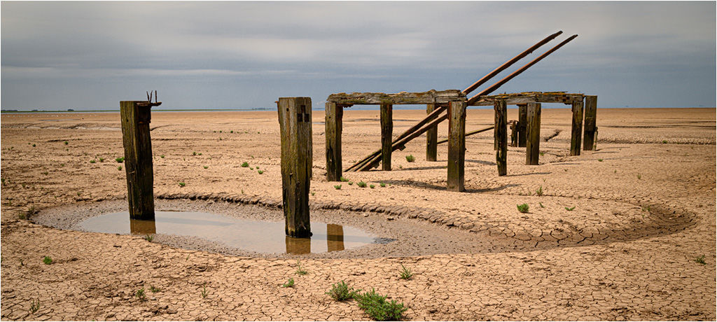 Joint 3rd place print (Open) - Old Pier remains, Snettisham - Sue West