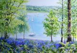 Bluebells at Bewl Valley (Watercolour)