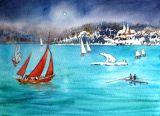 Christmas Magic at Bewl (Watercolour)