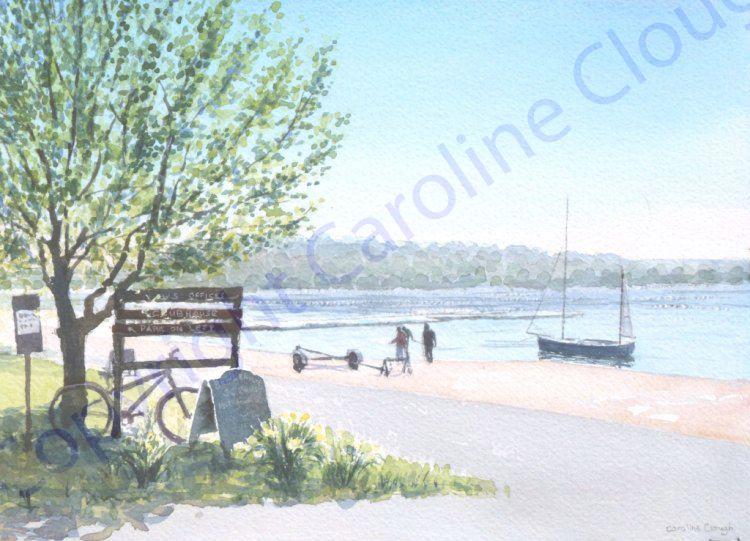 Spring Morning, Bewl Valley Sailing Club (Watercolour)