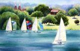 Summer Sailing, Bewl Valley Sailing Club (Watercolour)