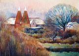 Winter, Bewl Oast (Watercolour)