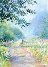 Early Morning Walk (Watercolour)